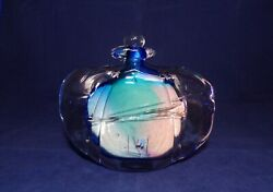 Signed Hand Blown Perfume Bottle Art Glass French Or Italian