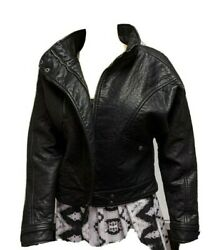 Urban Outfitters Womenandrsquos Silence + Noise Faux Leather Moto Jacket S Msrp199