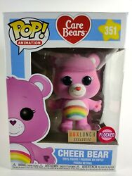 Funko Pop Care Bears 351 Cheer Bear Flocked Box Lunch Exclusive