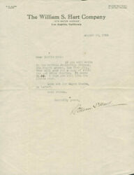 William S. Hart - Typed Letter Signed 08/20/1919