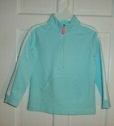 LILLY PULITZER BLUE WITH APPLIQUE TRIM ON SLEEVES POPOVER LARGE GIRLS 8 10 $28.99
