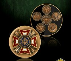 Vfw Veteran Of Foreign Wars Al Branches 1.75 Challenge Coin