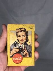 Vintage Coca-cola Playing Cards 1941-1945 Yellow Operator Airplane Spotter