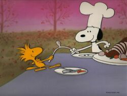 Peanuts-wishbone Wishes-snoopy- Limited Edition Cel Signed By Bill Melendez