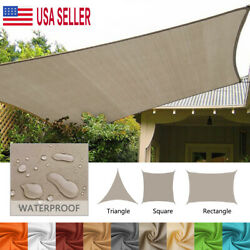 Outdoor Shade Sail Patio Awning Garden Pool Sun Canopy Shelter Cover Waterproof