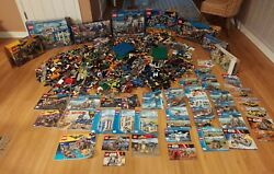 52 Pounds Lego City Batman Star Wars Super Heroes + Over 100 Minifig Unsorted