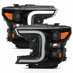 111398 Anzo Headlight Lamp Driver And Passenger Side New For F150 Truck Lh Rh Ford
