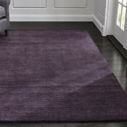 Area Rug 10and039 X 14and039 Baxter Plum Purple Hand Tufted Crate And Barrel Woolen Carpet