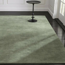 Area Rugs 10and039 X 14and039 Baxter Sage Green Hand Tufted Crate And Barrel Woolen Carpet