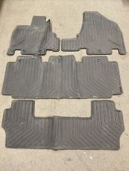 Set Of Front And Rear Black Rubber All Season Floor Mats For Honda Odyssey 11-17