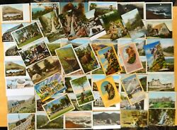 60 Postcards All White Mountains Nh Railroad Old Man Hotel Large Letter Camping