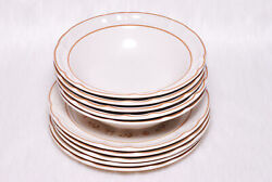 Vintage Collectible Cordella Burnet Stoneware Collection 5 Bowls And 5 Plates