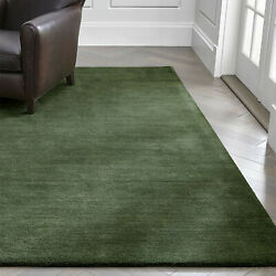 Area Rug 10and039 X 14and039 Baxter Bronze Green Hand Tufted Crate And Barrel Woolen Carpet