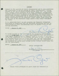 Xavier Cugat - Document Double Signed 01/27/1947