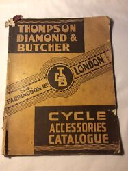 Antique 1930s Thompson Diamond And Butcher Cycle And Accessories Catalogue