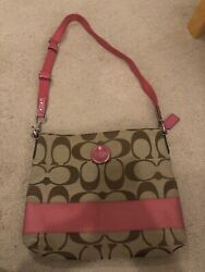 Pink Coach Crossbody Bag pre owned $29.99