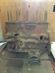 Late Triumph Tr3andbull Bare Engine Block. Stamped Ts 75181e. Used.   T1856