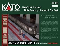 Kato N New York Central 9 Car Set 20th Century Limited 106 100