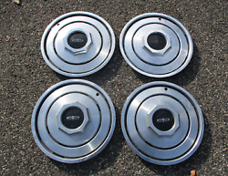 Genuine 1980 To 1987 Lincoln Town Car Factory 15 Inch Hubcaps Wheel Covers