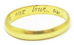 18th Century Georgian Gold Posy Ring 'god Above Increase Our Love' Maker Gs