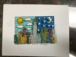 James Rizzi 3-d Artwork King Of New York Signed And Numbered 2002 Limited Ed