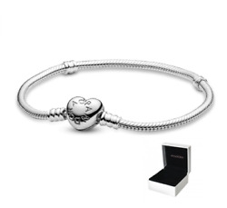 New Authentic Pandora 925 Sterling Silver Love And Hearts Fashion Charm Bracelet