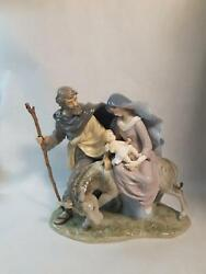 Porcelain Collectables Mary Joseph Baby Jesus Figurine Christmas Shiny Large