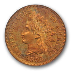 1865 1c Proof Indian Head Cent Pcgs Pr 64 Rd Pf Full Red Tough Date Pretty