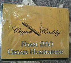 New Sealed Cigar Caddy Large 250 Cigar Deluxe Foam Humidor Humidifier 6-pack