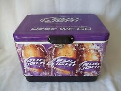 Rare Large Bud Light Cooler Here We Go Again Purple 22 X16 X 14 Clean