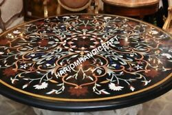 48 Marble Top Dining Round Table Collectible Marquetry Inlay Home Decors E634a1