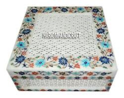 6x6x2 Marble Inlaid Floral Antique Jewelry Box Occasionally Home Gifts H3430