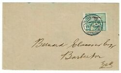 Lourenco Marques 1899 Blue Cancel On Cover To Transvaal Scott 55 Upper Half