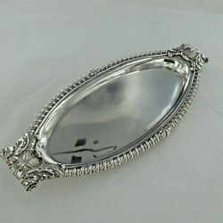 Good Antique Sterling Silver Card Tray By Paul Storr London 1809.