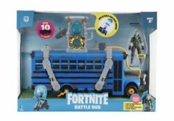 Fortnite Battle Bus Deluxe Vehicle Features 4andrdquo Action Figures Recruit Gift Toy