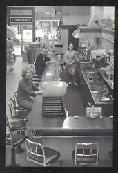 Real Photo Woolworth Store Interior Lunch Counter Advertising Postcard Copy