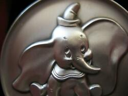 2.3 Oz Dumbo Disney Kirk Collection 1974 Relief .925 Silver Coin Very Rare +gold