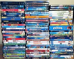 Dreamworks + More Dvd Bundle Lot 90 Kids Dvd Movies Used And New