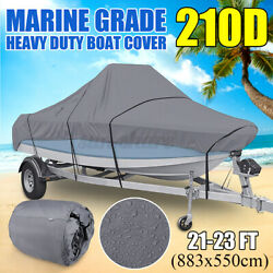 21-23ft Trailerable Runabouts Boat Cover For V-hull Fish Ski Center Console Boat