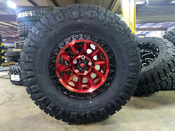 17x9 Fuel D695 Covert Red Wheels 35 Nitto Ridge Tires Jeep Gladiator Jt Tpms