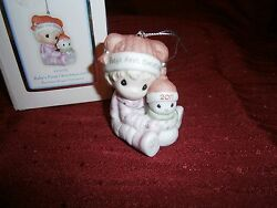 Precious Moments Ornament Babys 1st First Christmas 2011 Girl/snowman With Box