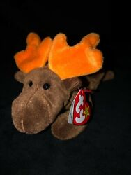 Ty Beanie Baby Style 4015 Rare 1993 Chocolate Moose Retired Errors Pvc Pellets