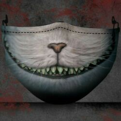 Cheshire Cat of Alice in Wonderland Funny Horror Smile Party Christmas Face Mask