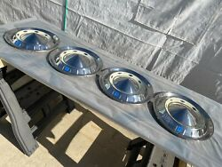 Lot Of 4 1955 Chevrolet Chevy Nomad Belair Hubcaps Wheel Covers - Nice