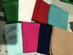 New Lot Of Great New Solid Colored Flannel Fat Quarters - 18 X 21 8 Different F