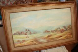 Oil Painting Large 110 X 68 Cm Theresa F Kennedy 1931 - 1982 Signed Original
