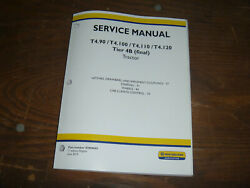 New Holland T4.110 T4.120 Tractor Steering Wheels Cab Shop Service Repair Manual
