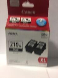 Genuine Canon 210XL Black 210XL Combo New in Box Pack Of 2 New in Box $32.45