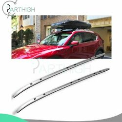 Pair Roof Rack Side Rail Luggage Cargo For Mazda Cx-5 Cx5 2018-2019 Aluminum