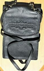 Genuine Harley Davidson Motorcycle PurseLeatherMintUncommon 3 Pouch 99390 96V $49.99